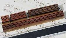 4x Ornament Wood Letterpress Wooden Printing Blocks Type Ornaments Antique Frame