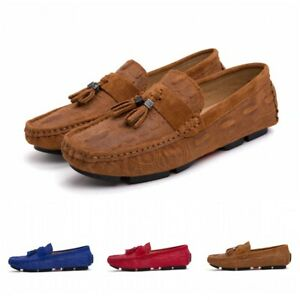 Mens Faux Suede Slip On Loafers Driving
