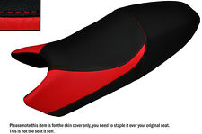 DESIGN 3 BLACK & RED CUSTOM FITS DUCATI MONSTER UNTIL 2007 LEATHER SEAT COVER