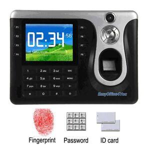 Details about Best Selling Biometric Fingerprint Attendance Time Clock+Card  Reading+TCPIP+USB