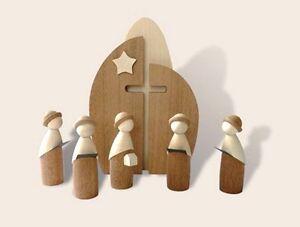 Weihnachtsdeko Holz Modern.Details Zu Kirche Mit Kurrende Modern Art Modernes Design Erzgebirge Holz Weihnachtsdeko