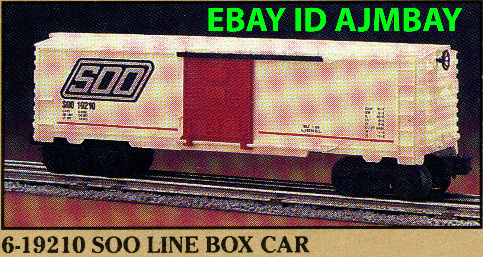 LIONEL 1989 FAMOUS NAME 19210 SOO, 19211 VERMONT, 19212 PRR, 19231 TA&G BOXCARS