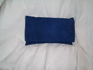 plana Grande gamuza bolsa azul oscuro de gamuza hombro embrague 4SdqzC