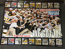 Boston Bruins Stanley Cup Champions Boston Herald Posters 2011