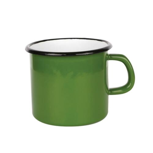 Home 8, 10, 14cm Camping Garden Plain 0.35l to 1.7l Enamel Cup Tin Mug