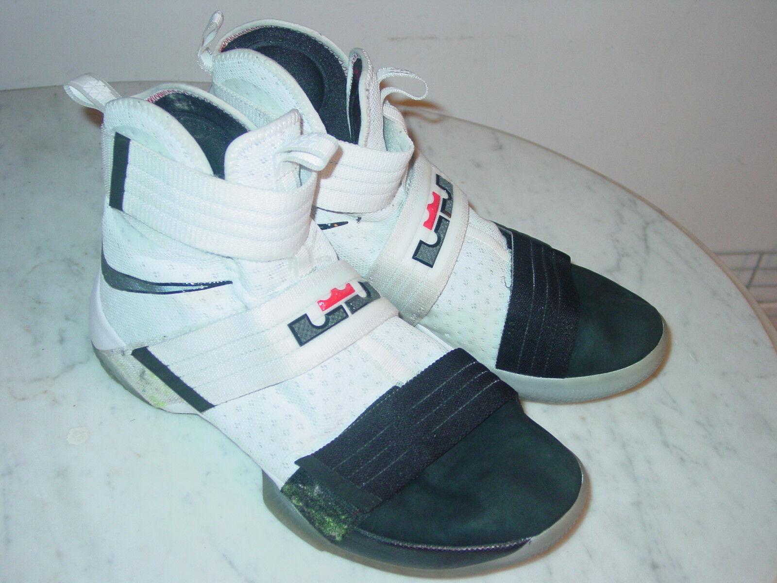 2016 Nike Lebron Soldier 10 SFG  Black Toe  White Black shoes  Size 10.5