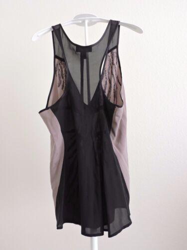 Sequins Blouse Bebe Top Lightweight Xxs Clubwear Black Shirt Sleeveless Gray FgFZd4twq