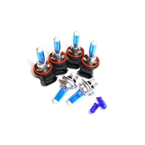 Peugeot 4007 H7 H11 H11 501 55w Super White Xenon High//Low//Fog//Side Light Bulbs