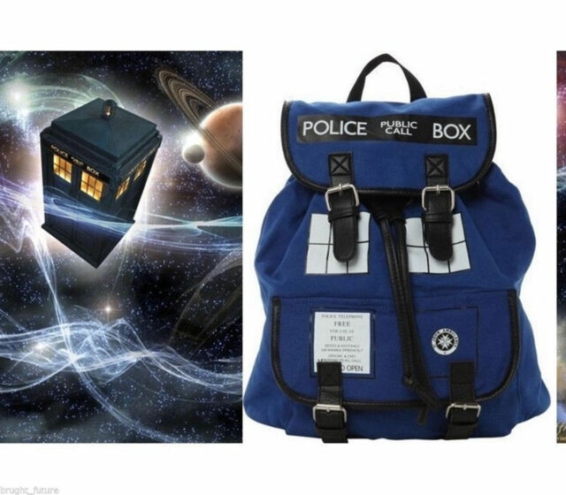 New Doctor Who Tardis Dr Who Backpack Canvas Shoulder Bag Slouch Bag Purse
