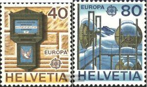 Schweiz-1154-1155-kompl-Ausgabe-postfrisch-1978-Postwesen