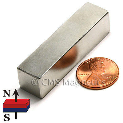 Bar Magnet N45 Grade Rare Earth Block Magnets Jamika Products Neodymium Magnets 1 Pc Super Strong 3 x /½ x /¼