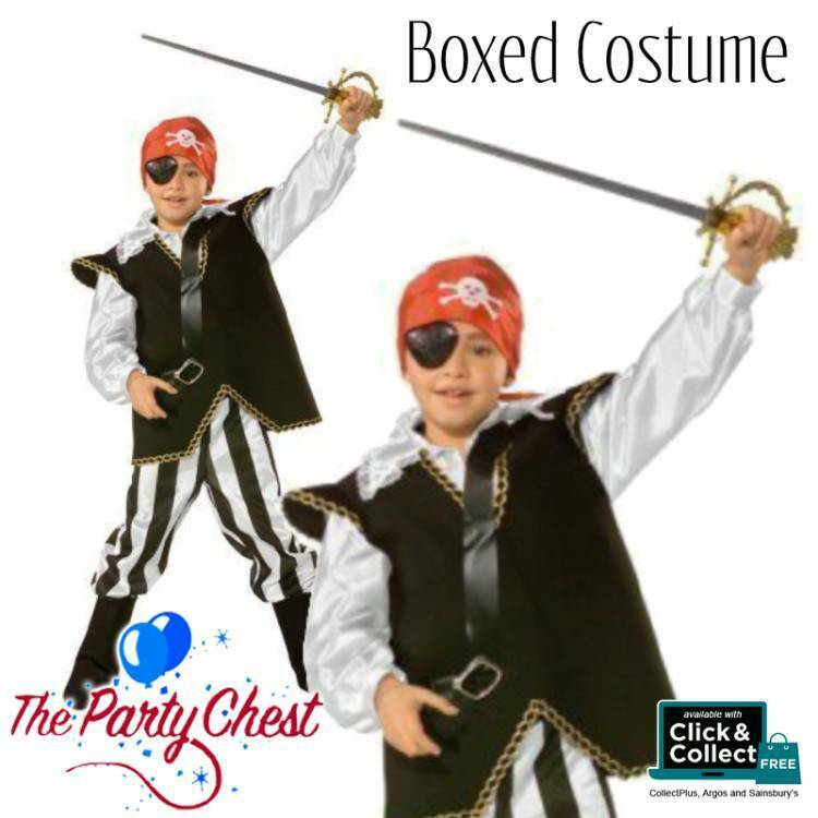 DELUXE PIRATE BOY BOXED COSTUME World Book Day Book Week Fancy Dress Outfit A333