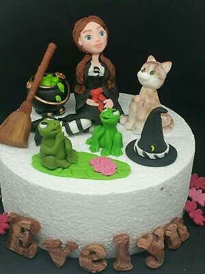 Stupendous Worst Witch Mildred Hubble Cauldron Broom Cat Frog Edible Handmade Funny Birthday Cards Online Fluifree Goldxyz