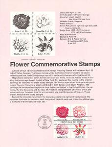 8106-18c-Flowers-Stamps-4-Scott-1876-79-USPS-Souvenir-Page