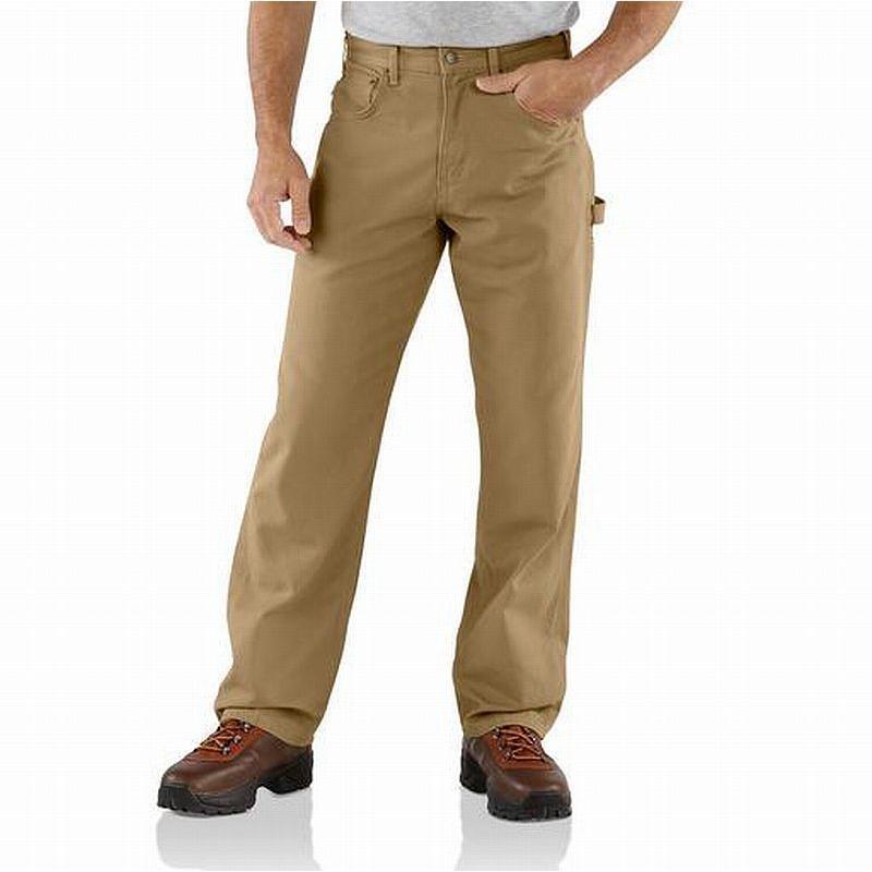 2 CARHARTT 383-51 MEN'S 40X32 DUNGAREE FIT BROWN WORK PANTS - C.441 - NEW