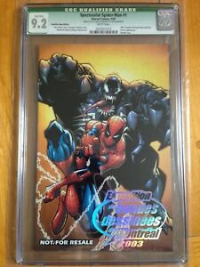 CGC-Q-9-2-Spectacular-Spider-Man-1-2003-Canadian-Expo-Excl-Signed-Sketch
