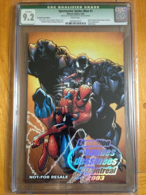 CGC Q 9.2 Spectacular Spider-Man #1 *2003 Canadian Expo Excl.*Signed+Sketch*