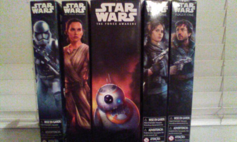 STAR WARS lot of  5,12  of figures,Stormtrooper,Rey,BB8,JYN,Cassian a85fe2