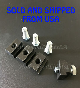 4X Truck Bed Deck Rail T Slot Nuts for Toyota Tacoma Cleats Stainless Steel