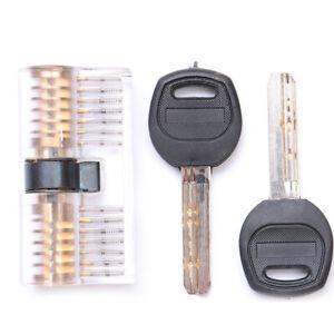 Locksmith Training Lock Practice Door Knob Barrel Deadbolt cutaway Plastic