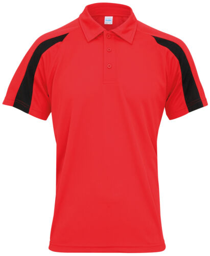 Men/'s polyester team sports//performance top AWDis Just Cool Contrast Cool Polo