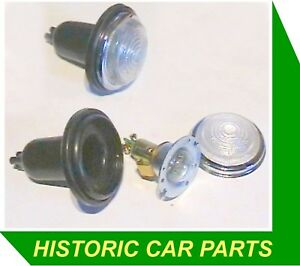 2-Clear-SIDE-INDICATOR-LIGHTS-for-ASTON-MARTIN-DB2-1951-54-replaces-Lucas-L488