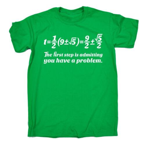 Primo passo per ammettere di avere un problema T-shirt equazione matematica regalo di compleanno divertente