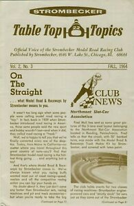 Strombecker Slot Car Racing Table Top Topics Newsletter Fall 1964 Chicago IL
