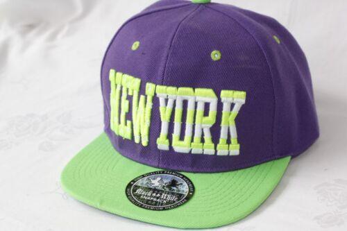 "Hip Hop Flat Fitted Cap /""City snapback/"" réglable fs-413"