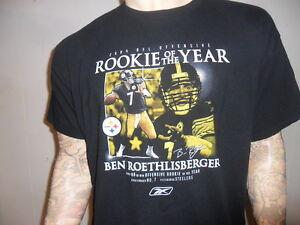 Ben-Roethlisberger-Junior-Of-The-Year-T-Shirt-Pittsburgh-Steelers-Reebok-L-XL