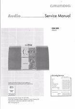 Grundig Service Manual per CDM 800