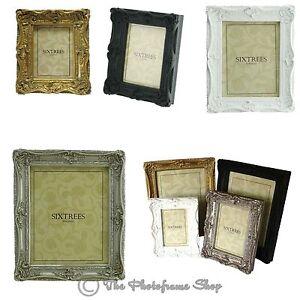 Ornate Swept Shabby Chic Vintage Antique Style Photo Frames 4x4 6x4
