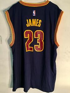 info for be41f 7f502 Adidas NBA Jersey Cleveland Cavaliers LeBron James Navy sz ...