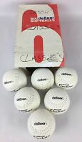 Lot Of 6 White Debeer Classic Corker Softballs Tc12 Tuff-tite In Box
