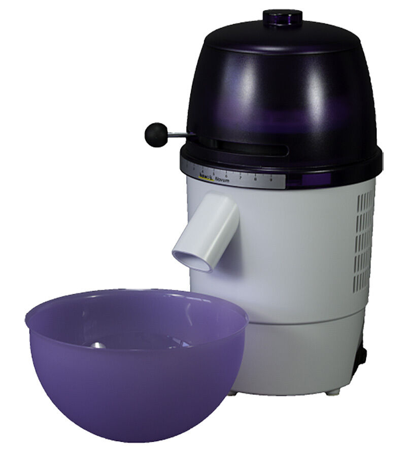 Hawos Novum Grain Mill with Funnel and Bowl Couleur  deep violet 4.4 oz   Minute