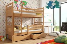 Etagenbett Kinderbett Hochbett GABI I Stockbett mit Matratzen 90x200 ÖKO
