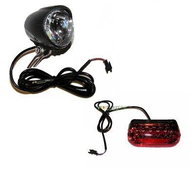 led beleuchtung set 36v leuchte vorder und r cklicht ebike pedelec ebay. Black Bedroom Furniture Sets. Home Design Ideas