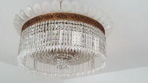 Plafoniere E Lampadari : Coppia lampadari plafoniere in bronzo e cristalli cm