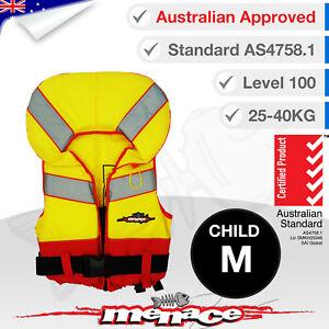 CHILD-MEDIUM-Life-Jacket-Kids-Foam-Type-1-New-Lifejacket-Vest-PFD1-Level-L100