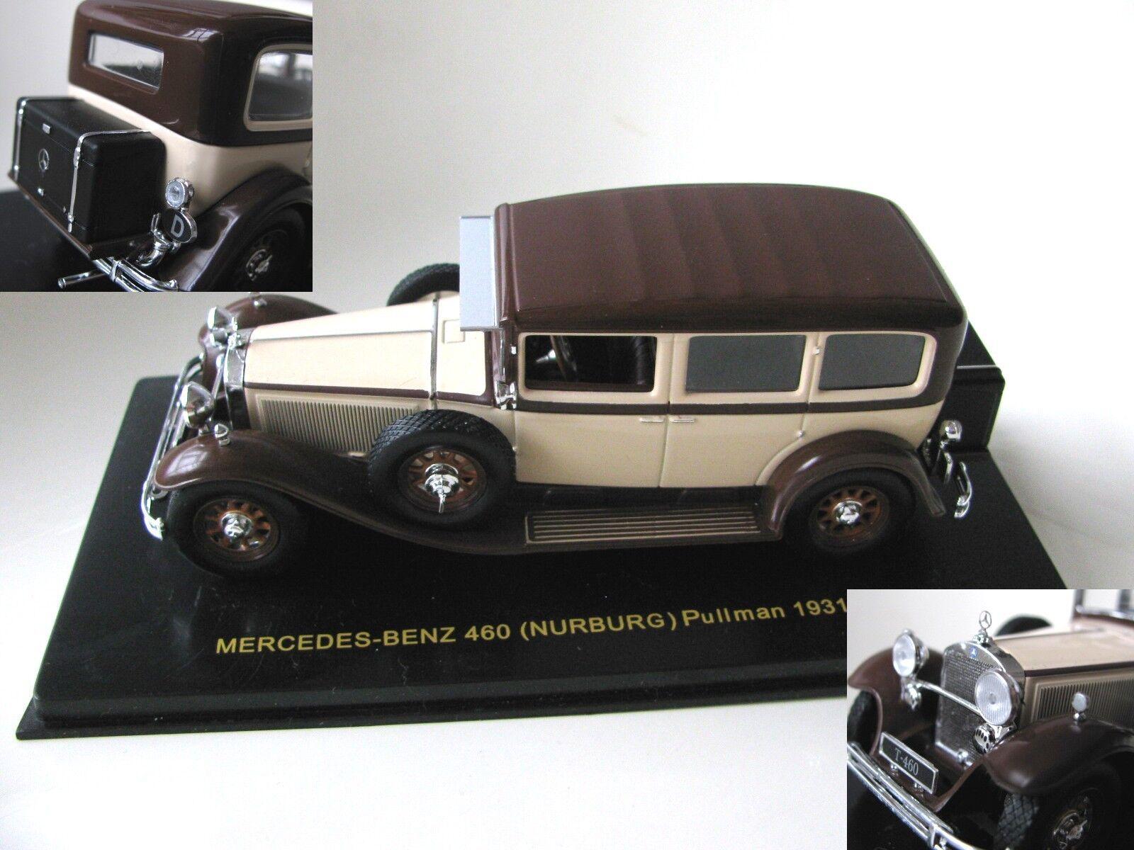 1 43 Mercedes Benz 460 (NURBURG) Pullman W08 (1931) diecast flesh marron