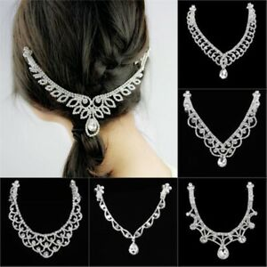 Women-Fashion-Metal-Rhinestone-Head-Chain-Jewelry-Headband-Hair-Band-13-Styles