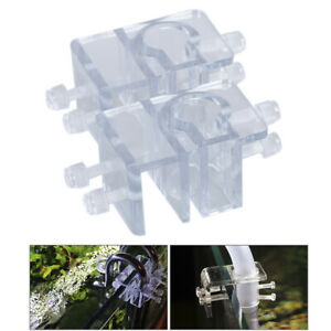 1-2pcs-Acrylic-Pipe-Holder-Fix-Bracket-Hook-Aquarium-Lily-Pipe-filter-Accessory