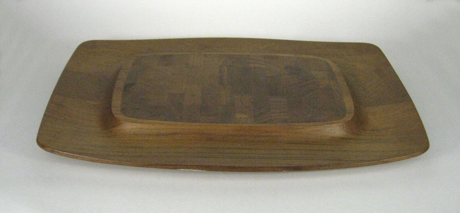 Dansk Cutting Board 18 In Teak Wood Cheese Bread Denmark IHQ Mid Century Modern