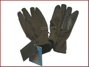 f1d1b4b3166725 Das Bild wird geladen Fleece-Finger-Handschuhe -oliv-gruen-winddicht-wasserabweisend-Winterhandschuhe
