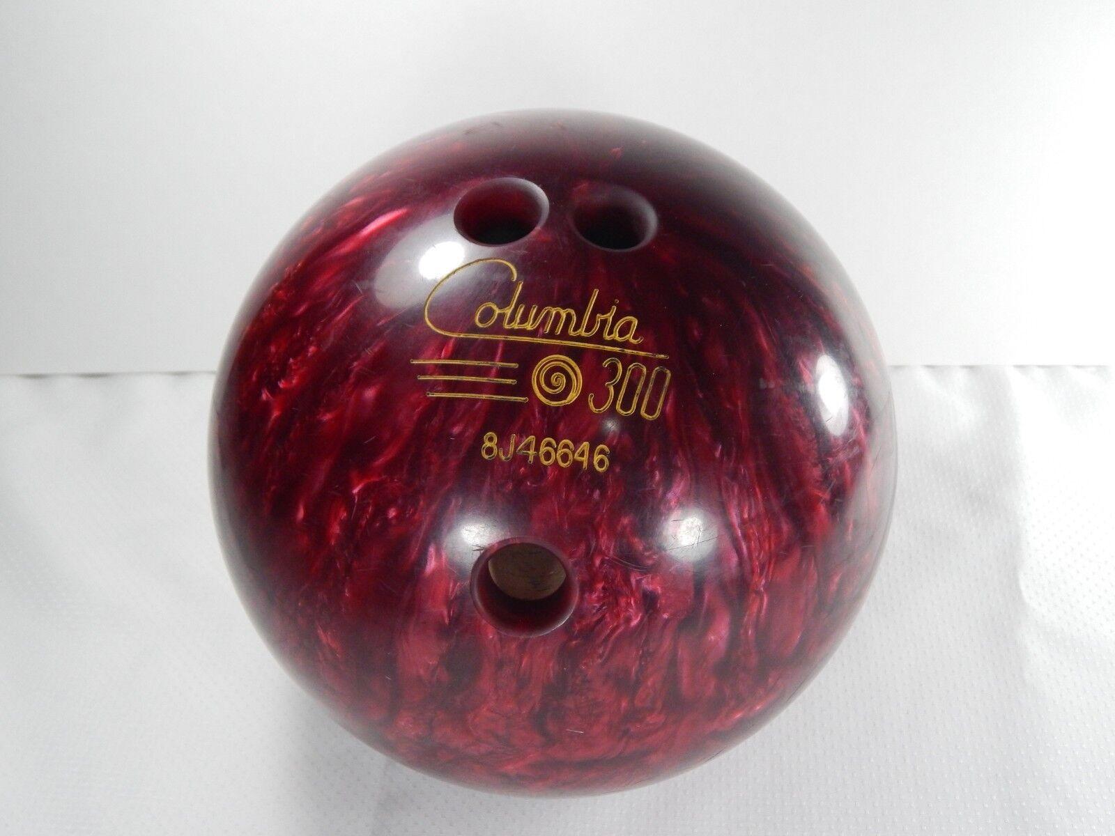 Columbia 300 Bowling Ball. Swirl Dot. Candy Red. 11lb