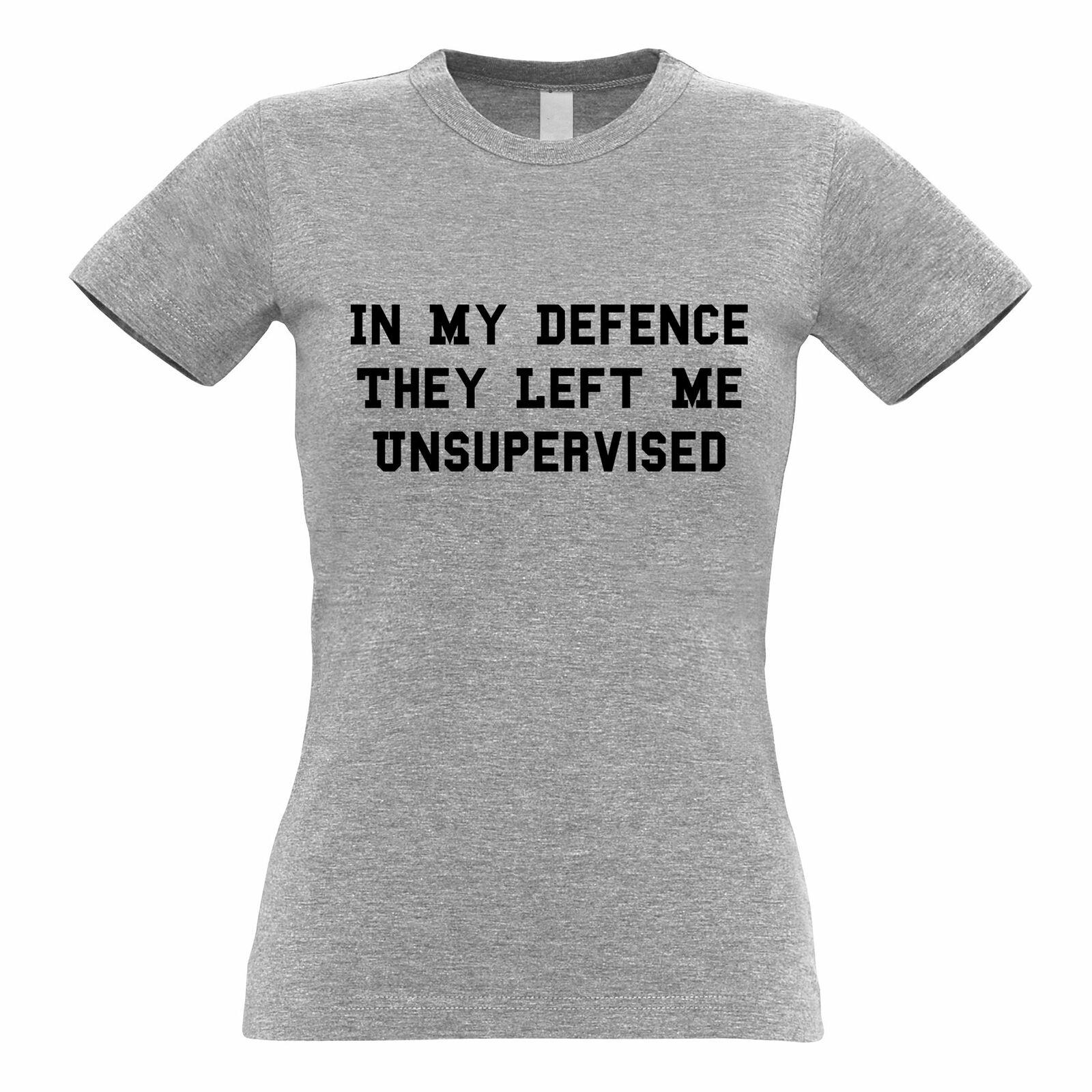 in My Defense I was Left Unsupervised Logo Mens Crew Neck Hoodie Sweatshirt