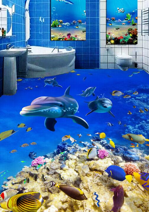 3D Oceano Allegro 137 Pavimento Foto Wallpaper Murales Muro Stampa Decalcomania