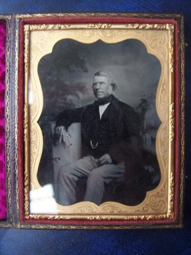 Ambrotype Photograph 3.75 x 4.75 inch case Clean photo image