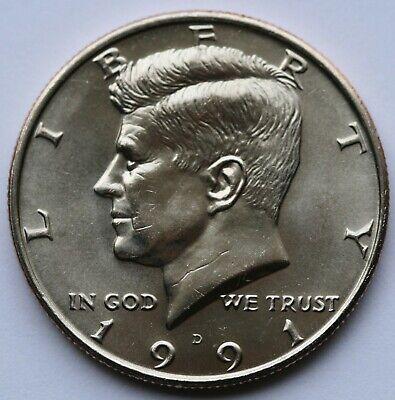 1991-D Denver Mint Kennedy Half Dollar BU