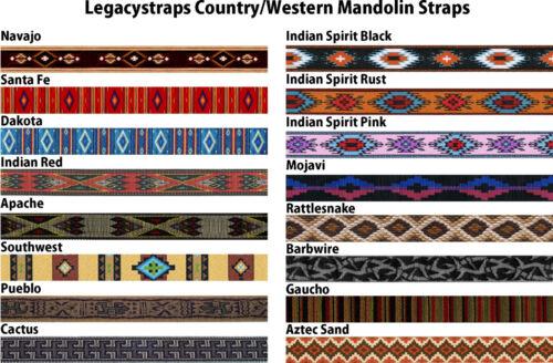 Legacystraps Mandolin Strap Ukulele Strap Paisley Design